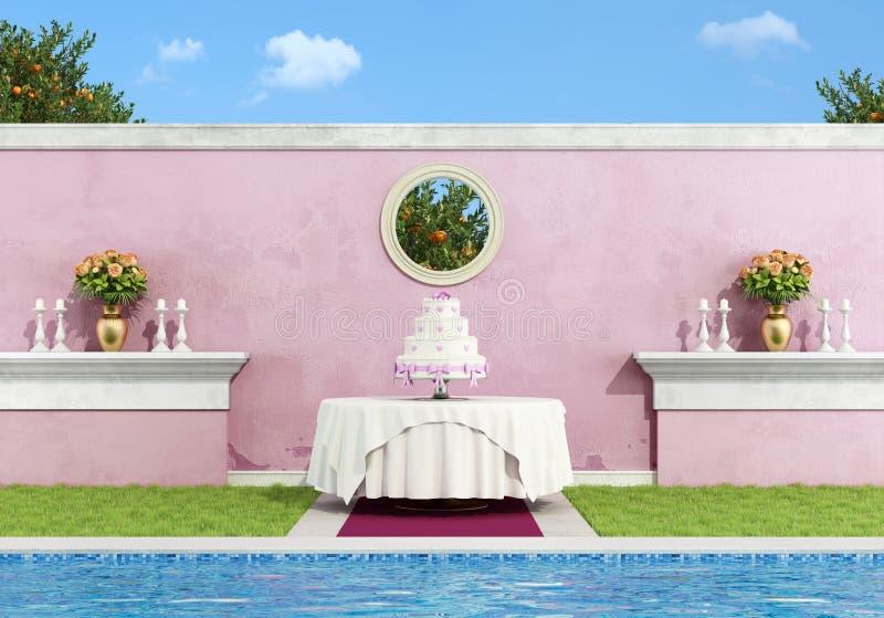 Przyjęcie weselne ilustracji