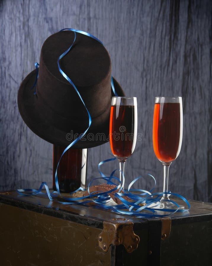 przyjęcie wino obraz stock