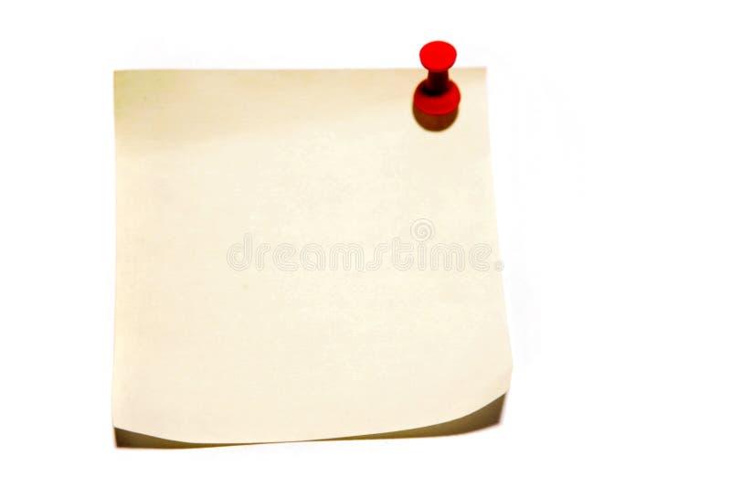 przyj pin papieru obraz stock
