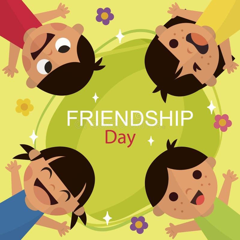 Przyjaźń dzień ilustracja wektor