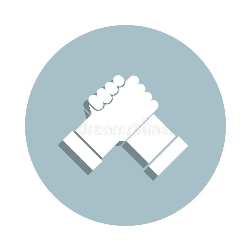 Przyjaźń, ikona wskaźnika współpracy Prosty glif, płaski wektor ikon przyjaźni dla aplikacji ui i ux, witryny internetowej lub mo zdjęcia stock