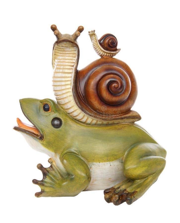 przyjaźni żaby ślimaczek zdjęcia royalty free