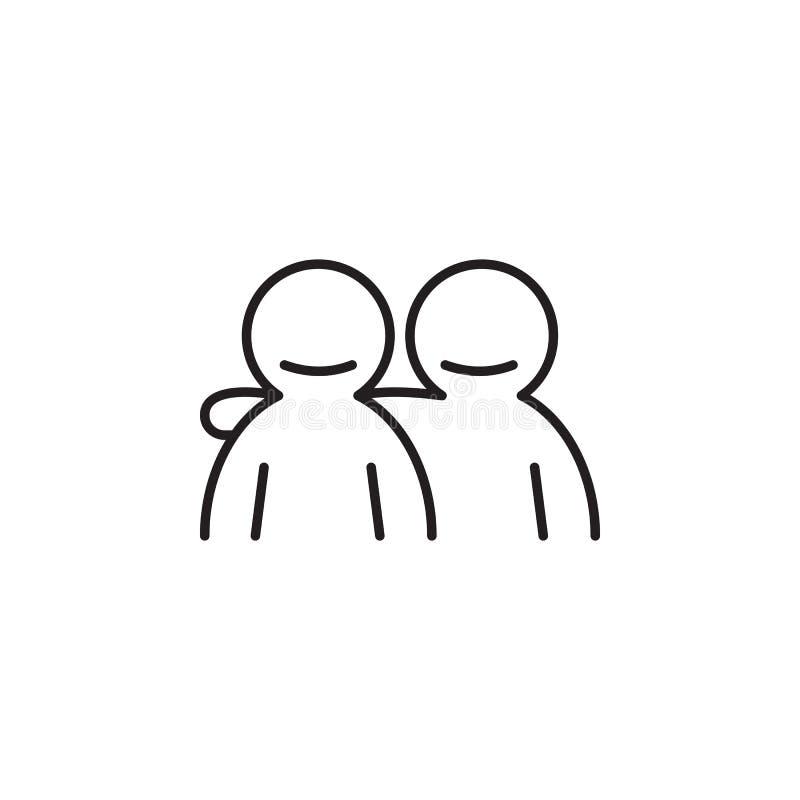 Przyjaźni ikona Szczegółowa ikona przyjaźń i związek ikona Premii ilości graficzny projekt Jeden inkasowa ikona fo ilustracja wektor