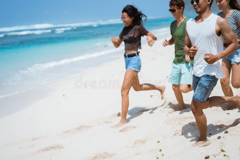 Przyjaźni wolności plaży lato obrazy royalty free