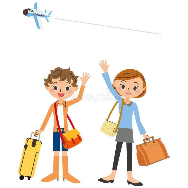 Przyjaciel który podróżuje ilustracji