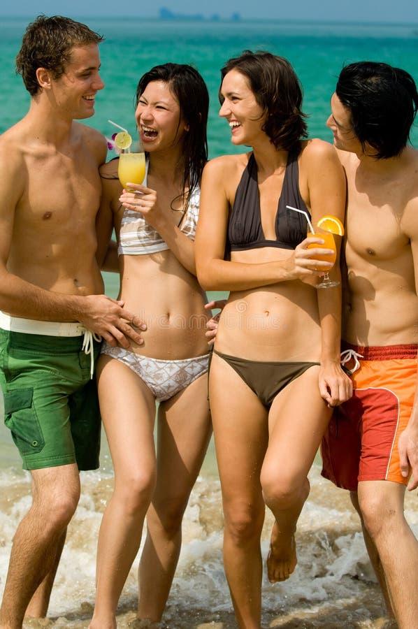Przyjaciel Na Plaży zdjęcie stock