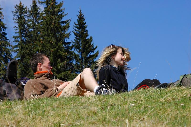 przyjaciel trawy góry rack zdjęcie stock