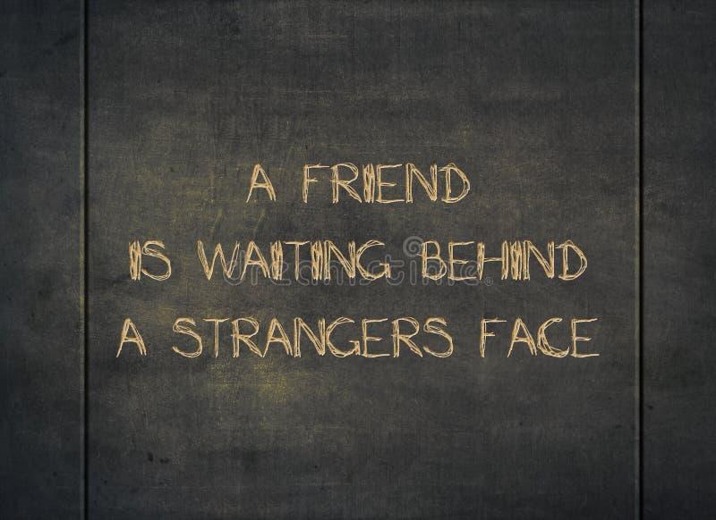 Przyjaciela nieznajomego czekania powitania typografii mi?y typ obrazy royalty free
