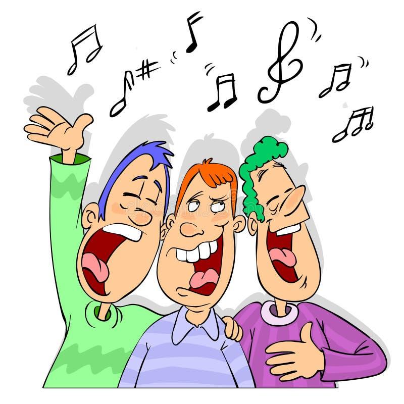 Przyjaciele śpiewa kreskówkę ilustracji
