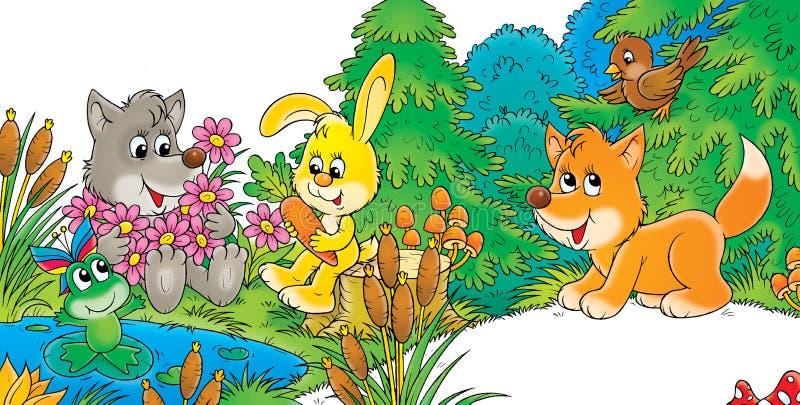 przyjaciele royalty ilustracja