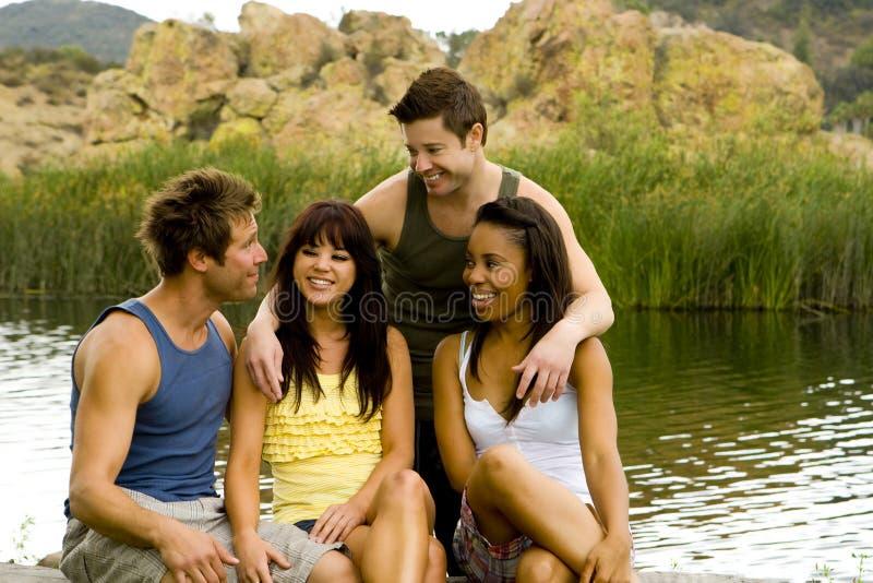 przyjaciele jeziorni zdjęcie royalty free