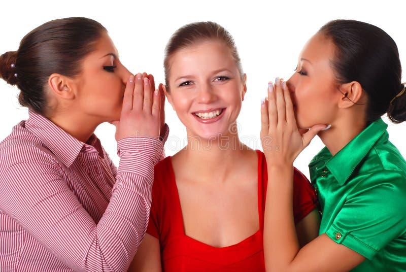 przyjaciele szczęśliwi trzy fotografia stock