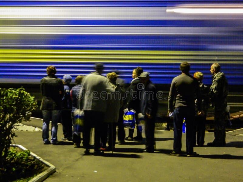 Przyjazd kampania pociąg Rosyjska partia liberalno-demokratyczna obraz royalty free