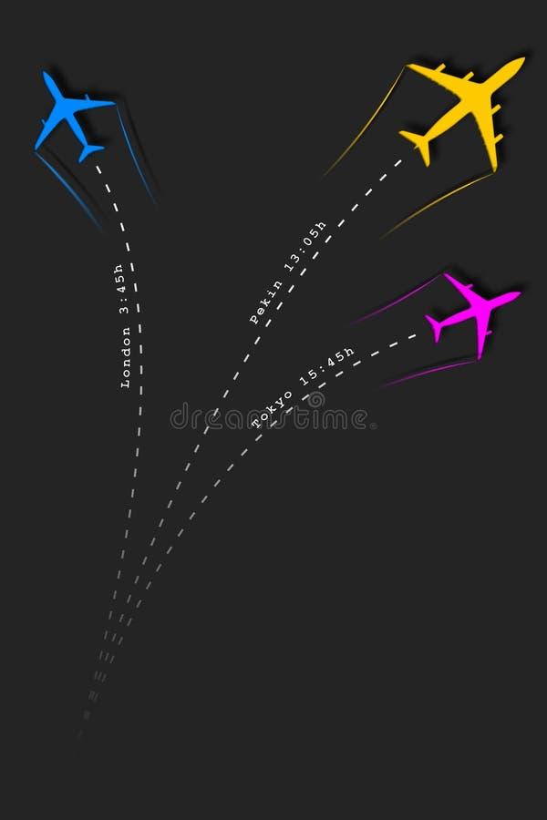 przyjazdy i odjazdów dołączeni loty ilustracji