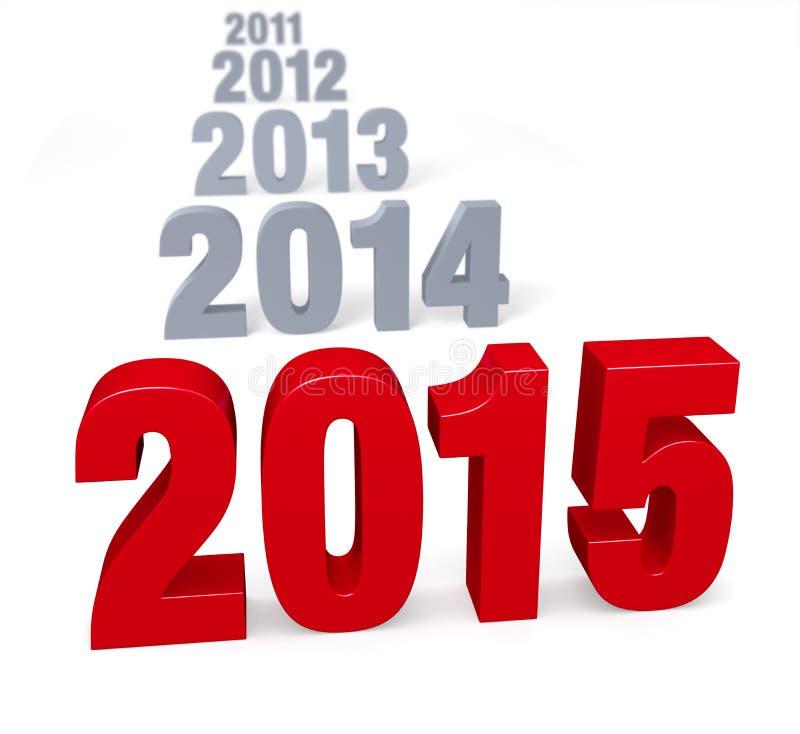2015 Przyjeżdża ilustracja wektor