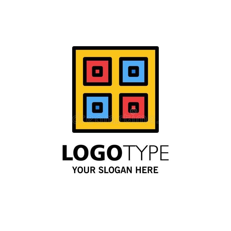 Przyjeżdżający, pudełka, dostawa, Logistycznie, wysyłka biznesu logo szablon p?aski kolor royalty ilustracja