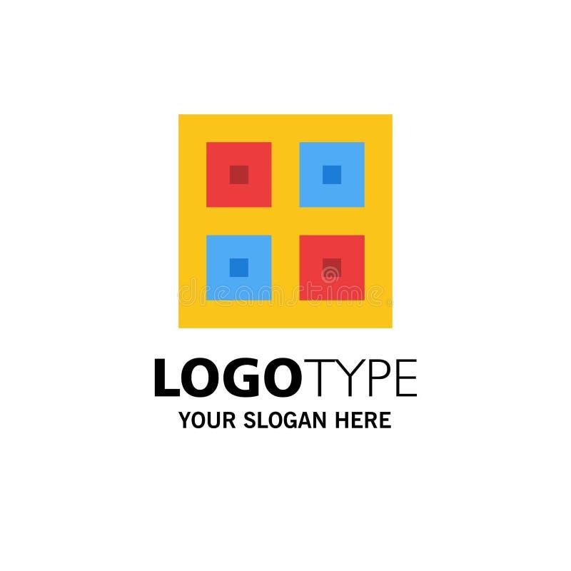 Przyjeżdżający, pudełka, dostawa, Logistycznie, wysyłka biznesu logo szablon p?aski kolor ilustracja wektor