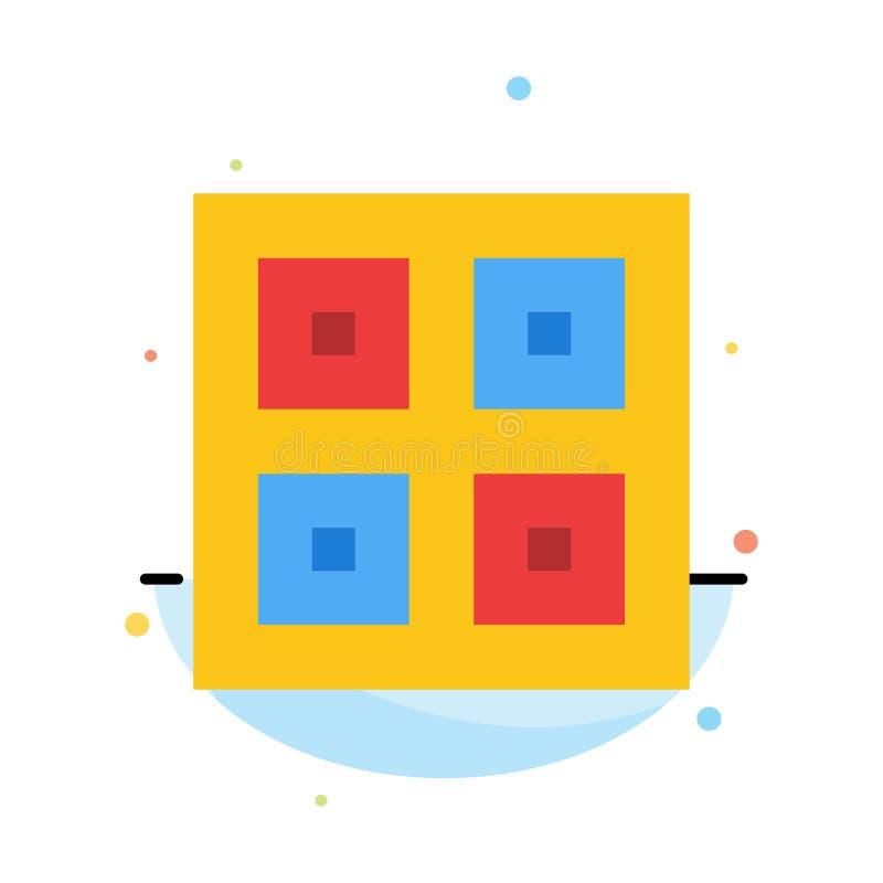 Przyjeżdżający, pudełka, dostawa Wysyła Abstrakcjonistycznego Płaskiego kolor ikony szablon, Logistycznie, ilustracji