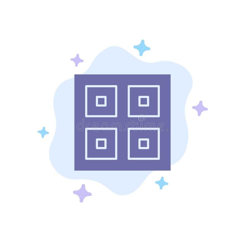 Przyjeżdżający, pudełka, dostawa Wysyła Błękitną ikonę na abstrakt chmury tle, Logistycznie, ilustracji