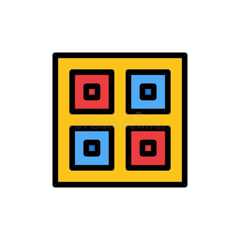 Przyjeżdżający, pudełka, dostawa Wysyła Płaską kolor ikonę, Logistycznie, Wektorowy ikona sztandaru szablon ilustracja wektor