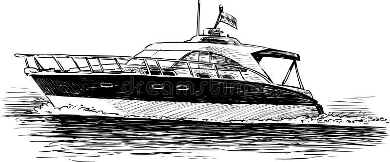 Przyjemności łódź royalty ilustracja