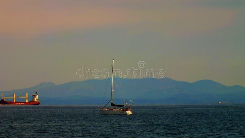 Przyjemności łódź zdjęcia royalty free