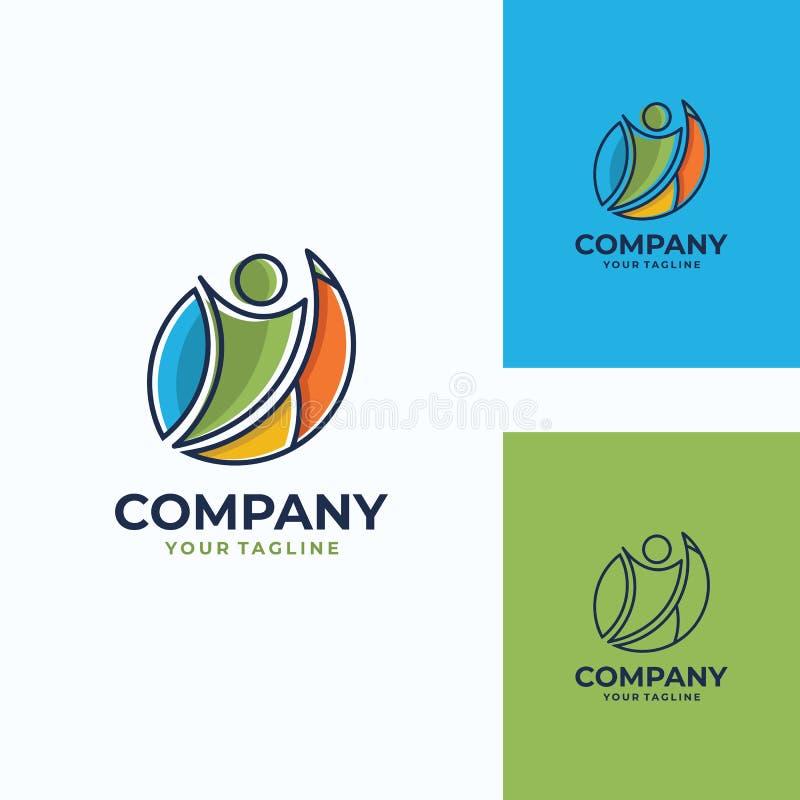 Przyjemny ludzki wektorowy logo szablon obrazy royalty free