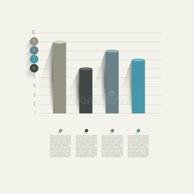 Przykład biznesowy płaski projekta wykres. ilustracja wektor