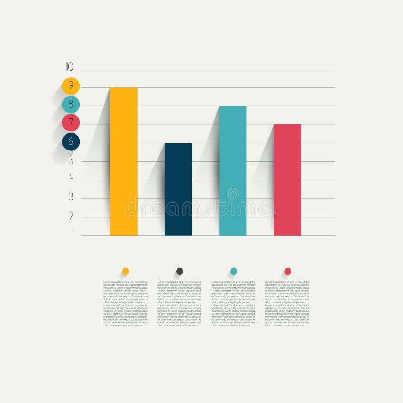 Przykład biznesowy płaski projekta wykres. royalty ilustracja
