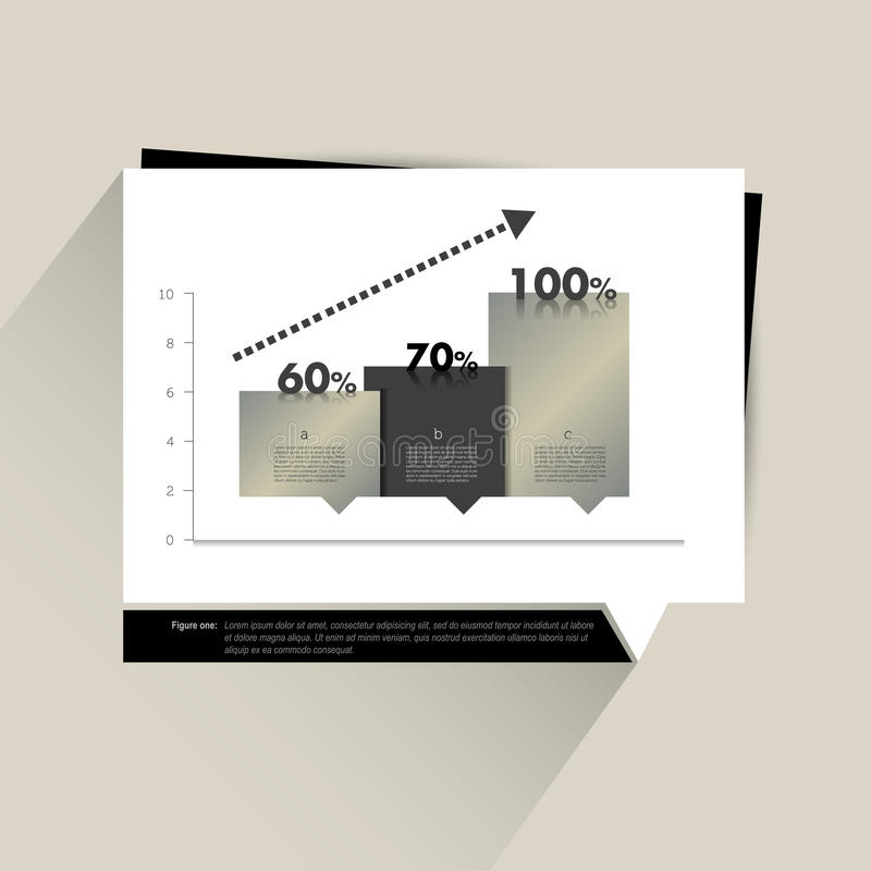 Przykład biznesowy płaski projekta wykres royalty ilustracja