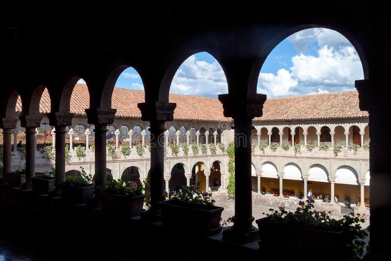 Przyklasztorny klasztor Santo Domingo w Cuzco fotografia stock