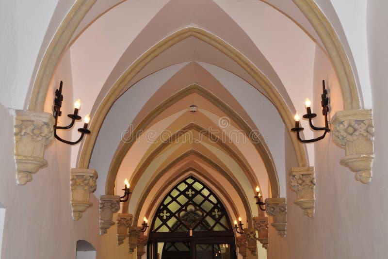 Przyklasztorny korytarz obrazy stock
