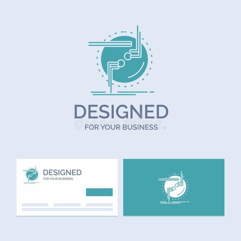 przykuwa, łączy, związek, połączenie, druciany Biznesowy logo glifu ikony symbol dla twój biznesu Turkusowe wizyt?wki z gatunku l ilustracji