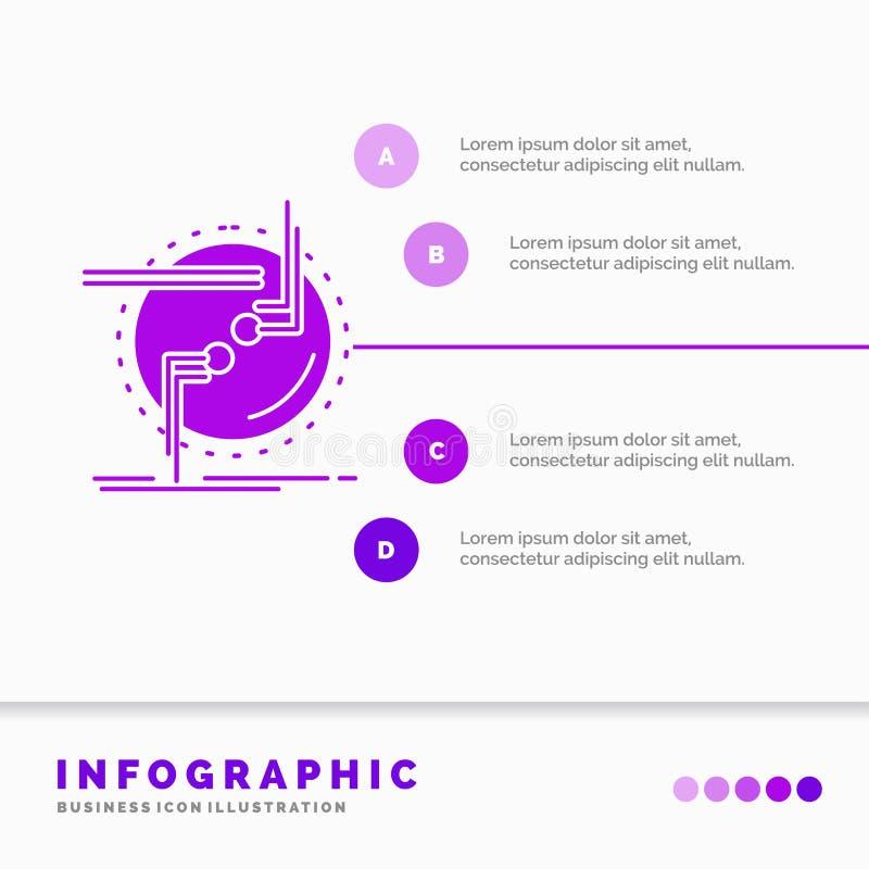przykuwa, łączy, związek, połączenie, druciany Infographics szablon dla strony internetowej i prezentacja, glif Purpurowej ikony  ilustracji
