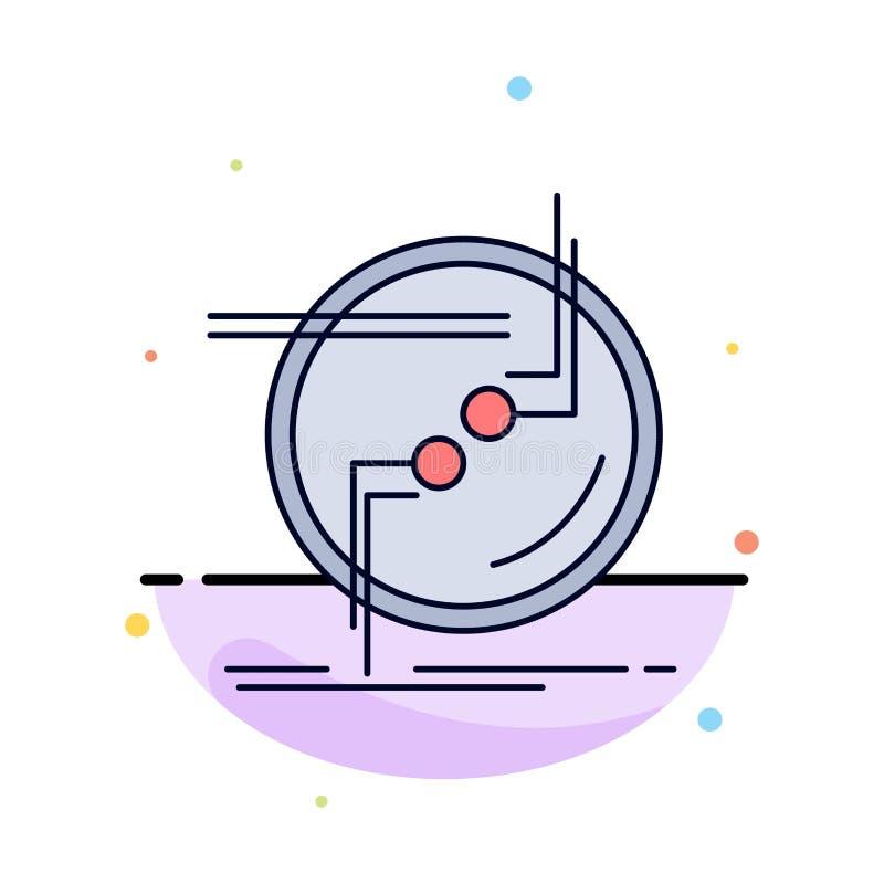 przykuwa, łączy, związek, połączenie, druciany Płaski kolor ikony wektor ilustracji