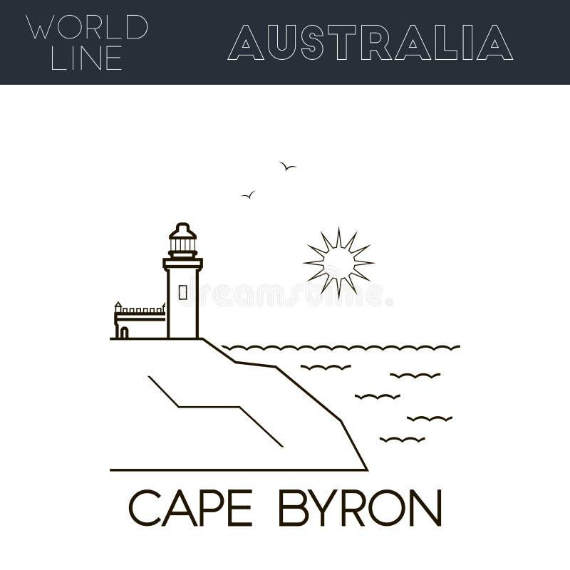 Przylądek Byron ilustracja wektor
