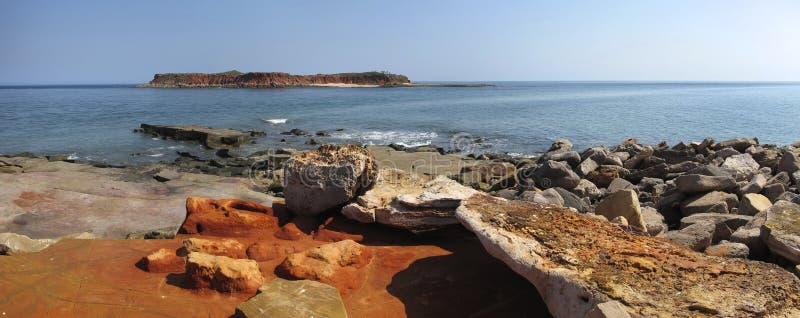 Przylądek Leveque blisko Broome, zachodnia australia fotografia royalty free