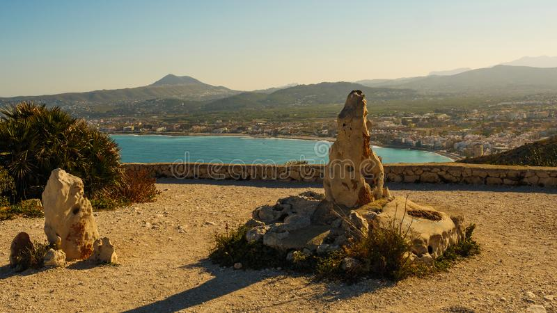 Przylądek San Antonio, seascape w Hiszpania fotografia stock