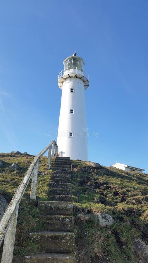 Przylądka Egmont latarnia morska w Taranaki fotografia royalty free