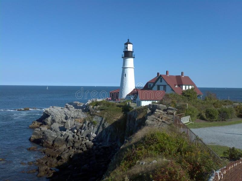 Przylądka Elizabeth latarnia morska Portland ja zdjęcie royalty free