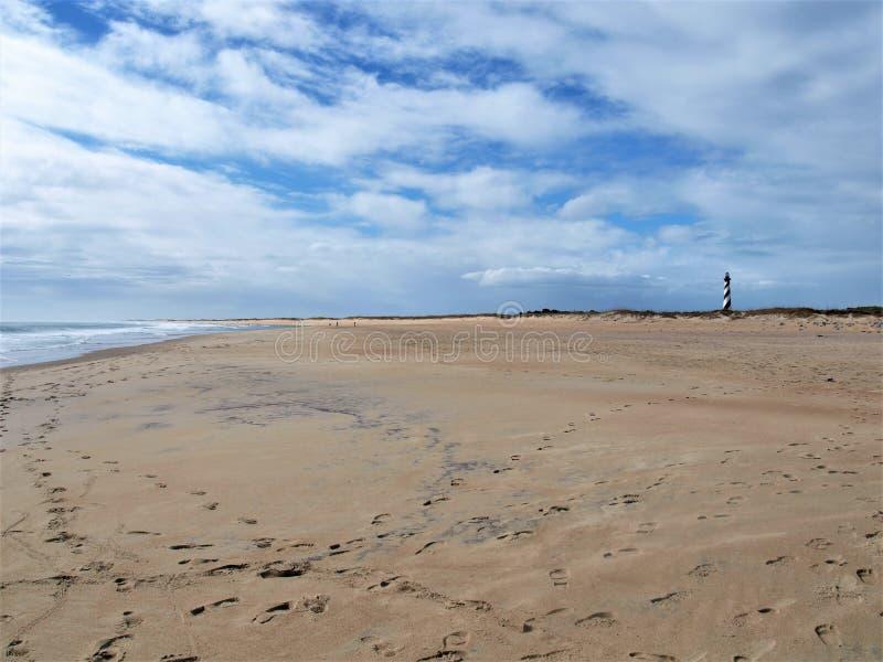 Przylądka Hatteras Krajowy Seashore w Pólnocna Karolina fotografia royalty free