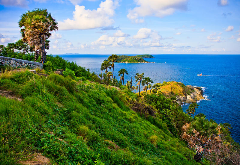 przylądka hdr wyspa Phuket przetwarzał promthep strzału Thailand vertical fotografia royalty free