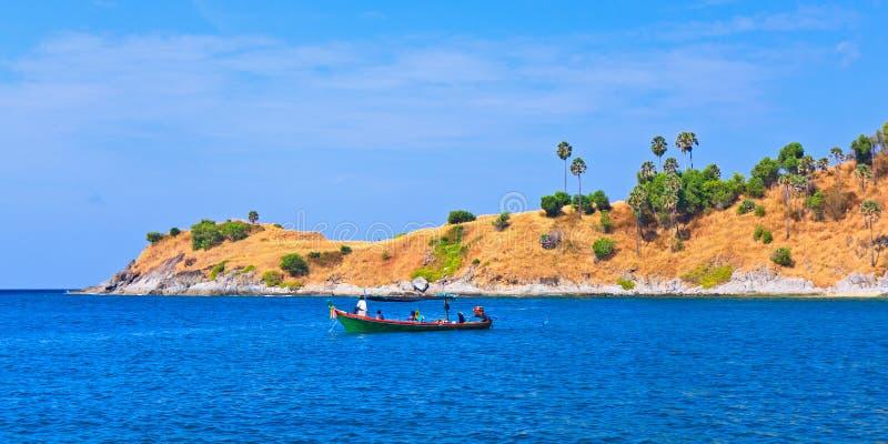 przylądka hdr wyspa Phuket przetwarzał promthep strzału Thailand vertical obraz royalty free