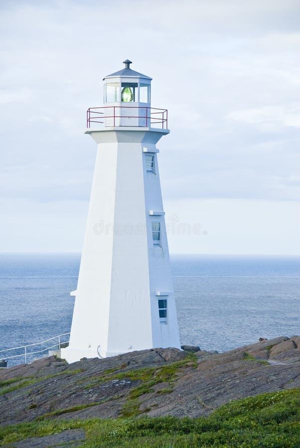 przylądka latarni morskiej Newfoundland dzida fotografia royalty free