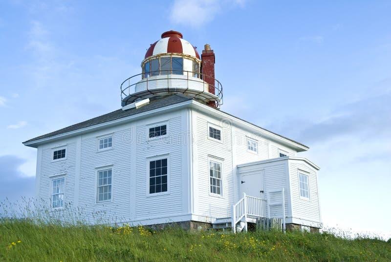 przylądka latarni morskiej Newfoundland dzida obraz royalty free