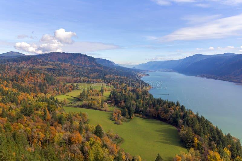 Przylądka rogu punkt widzenia w jesieni zdjęcia royalty free