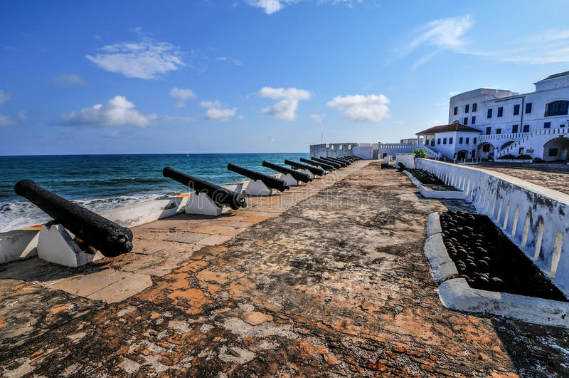 Przylądka wybrzeża kasztel - Ghana obraz royalty free