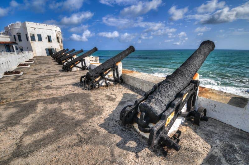 Przylądka wybrzeża kasztel - Ghana obrazy royalty free