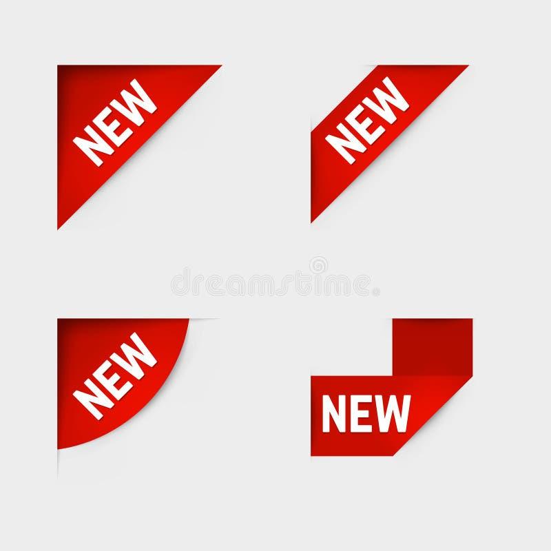 przylepiać etykietkę nowego wektor ilustracja wektor