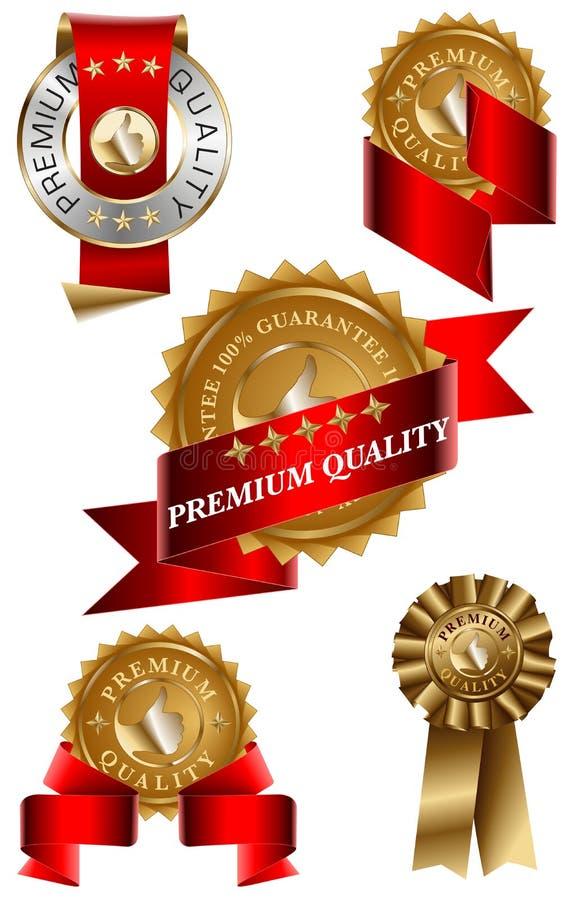 Przylepiać Etykietkę Premii Ilości Set Zdjęcia Royalty Free